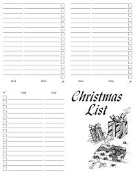 christmas shopping list printable christmas shopping list