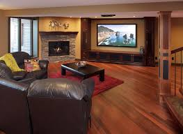 kayu flooring in basement contemporary home theater calgary