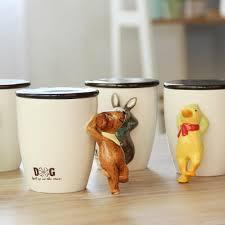Office Coffee Mugs 440ml Bone China Ceramics Cartoon 3d Dog Monkey Animal Mug With