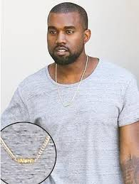 man name necklace images Kanye west wears necklace with daughter nori 39 s name jpg%3