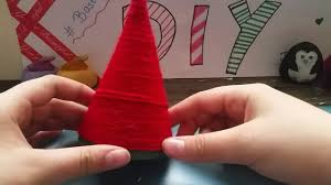 weihnachtsmütze basteln dekoration diy youtube