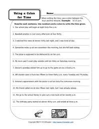 colons and time free printable punctuation worksheets