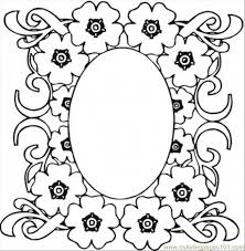 mirrow flowers coloring free pattern coloring pages