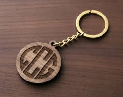 wooden key chain wooden keychain etsy