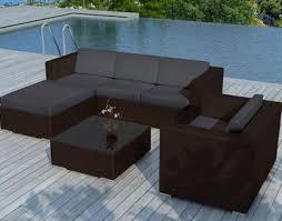 canapé de jardin en résine tressée salon de jardin tresse en resine idées de décoration capreol us