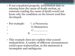medical certification of cause of death