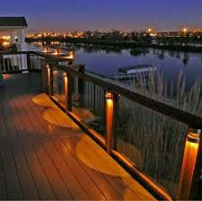 post lights for decks inspirations with deck lighting images