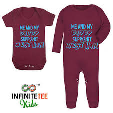 Christmas Gift Dad - me and my daddy support west ham baby grow football club