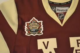 heritage uniforms and jerseys mail day vancouver canucks 2014 heritage classic millionaires