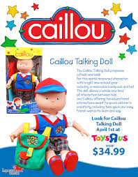 caillou talking doll giveaway run dmt