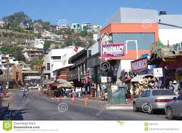 ensenada u0027s street la calle primera editorial stock photo image