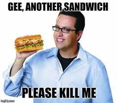 Tuna Sub Meme - amazing tuna sub meme like a boss jared memes memeaddicts 80