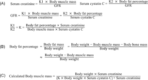 Serum Cr a new equation to estimate mass from creatinine and cystatin c