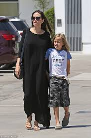 angelina jolie heads out shopping with vivienne daily mail online
