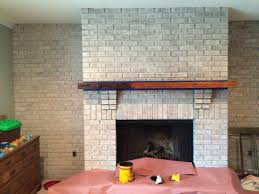 Fireplace Brick Stain by Walking With Dancers The Family Room U0027s Fireplace Update