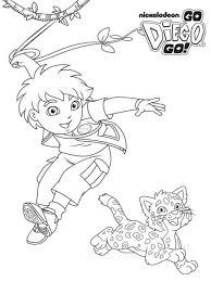 Go Diego Go Coloring Zebra And Diego Explorer Coloring Pages Go Diego Go Coloring Pages