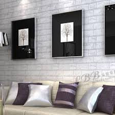 Wallpaper Ideas For Sitting Room - 3d self adhesive wallpaper stone brick design background wall