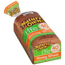 nature u0027s own life 40 calorie honey wheat bread shop sandwich