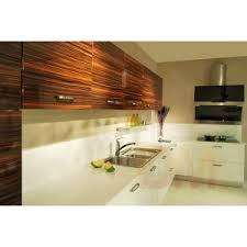 Modular Kitchen Wall Cabinets Modular Kitchen Cabinet With Ebony Wood Grain High Gloss Finished