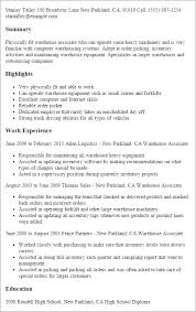 Resume For Warehouse Associate Free Essays Embryonic Stem Cell Research Mfa Photographic