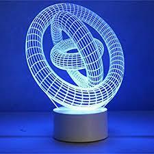 3d Lamps Amazon Optical Illusion 3d Lamp 7 Colour Changing Gyro Amazon Co Uk