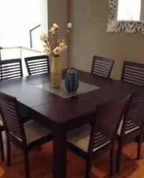 Square Kitchen Tables by Brilliant Square Kitchen Table Seats 8 Great Interior Design For