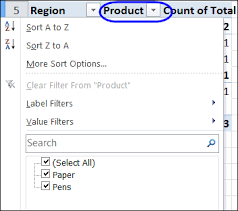 How To Remove Pivot Table Hide Drop Down Arrows In Pivot Table Headings Excel Pivot