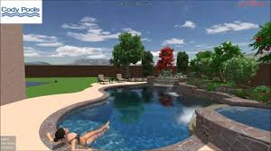 contemporary tropical pool spa waterfall modern grotto