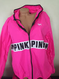pink victoria secret black friday sales victorias secret pink windbreaker hoodie full zip m l nwt