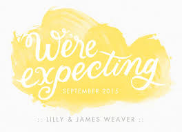 we re expecting yellow watercolor pregnancy announcement cardstore