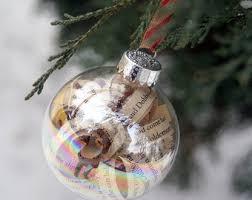 sheet music christmas ornament small set of three