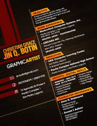 Graphic Design Resume Examples Contoh Resume Graphic Designer Resume For Your Job Application