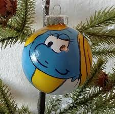 smurfette ornamentsmurf ornament smurfette painting smurf