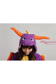 Spyro Halloween Costume Royal Dragon Spyro Dragon Onesie Costume Kigurumi Pajamas