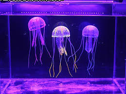 5pcs glowing effect artificial fake jellyfish for fish tank