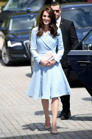 kate middleton in emilia wickstead u0027s ice blue coatdress vogue