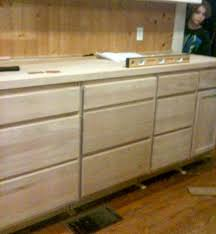 unfinished kitchen cabinet
