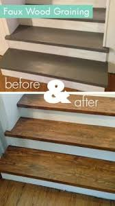 before u0026 after sarah u0027s stairs go faux in the best way possible