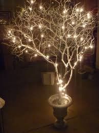 christmas branches with lights lighted branch centerpiece everything wedding pinterest