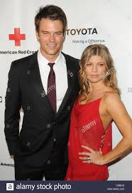 josh duhamel fergie at arrivals for american red cross red tie