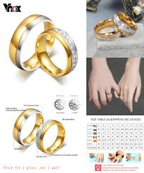 aliexpress buy vnox 2016 new wedding rings for women visit to buy vnox classic wedding bands ring for women men gold