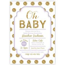 polka dot invitations polka dot baby shower invitation pink and gold glitter baby