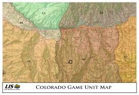 Colorado Hunting Unit Map by 542 Acres In Gunnison County Colorado