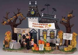 177 best halloween village sets images on pinterest halloween