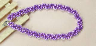 make necklace with beads images How to make your own beautiful purple bead necklace jpg