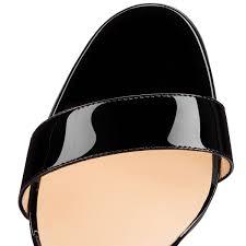 christian louboutin sova heel patent leather black louboutin