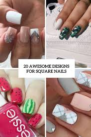 20 awesome design ideas for square nails styleoholic