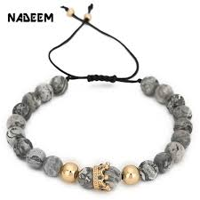 braided bead bracelet diy images 8mm marble stone bead bracelet diy braiding macrame adjustable jpg