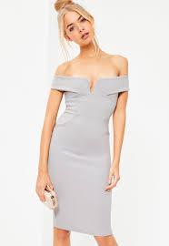 bardot dresses off the shoulder dresses missguided ireland