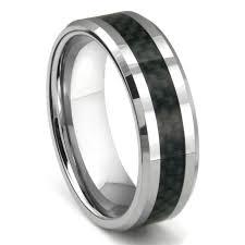 carbon fiber wedding band bomani tungsten carbide carbon fiber ring
